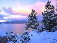 Зимнее озеро - 1024 x 768